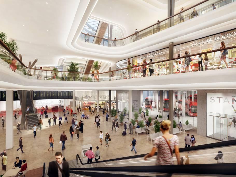 Vizualizácia nákupného centra na stanici Nivy