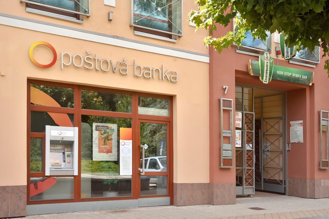 Poštová banka cenník
